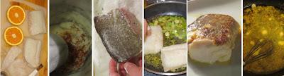 Zubereitung Skrei mit Safran-Orangensauce auf Kokosreis