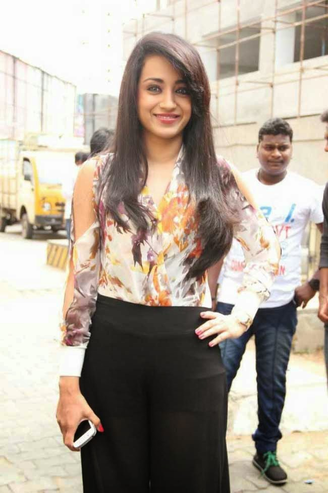Trisha In Sheer Skirt