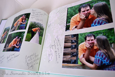 Photo Guest Book :  wedding photo book guest book teal blue pink purple ceremony diy reception Open+book+1