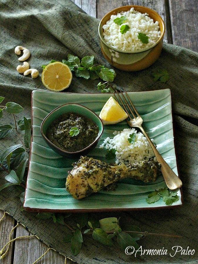Fusi di Pollo con Menta e Coriandolo in Stile Kerala Indiano di Armonia Paleo