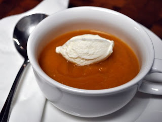 1 serving of pumpkin soup