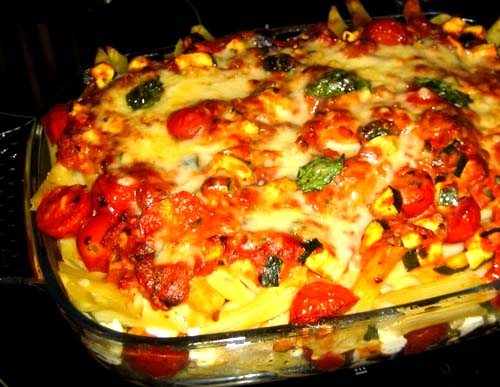 Meatless Baked Penne Pasta