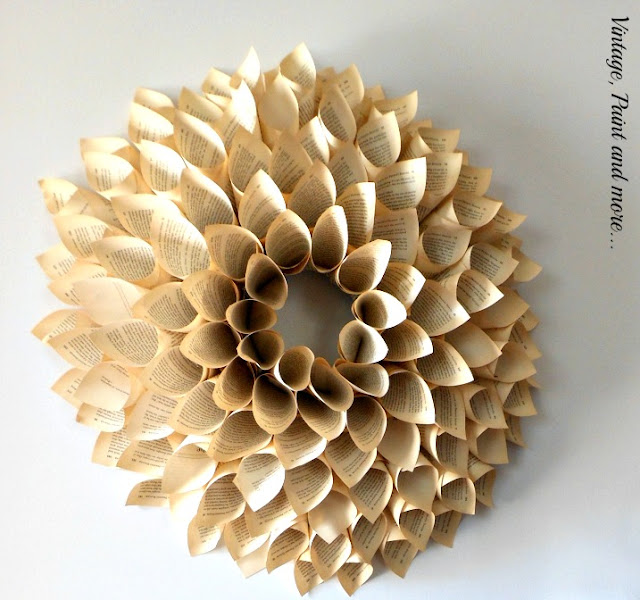 Vintage, Paint and more... DIY Book Page Wreath