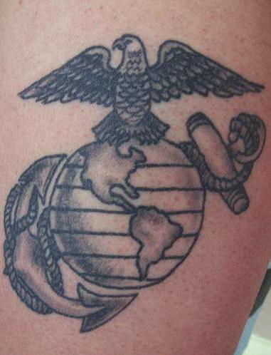 Hawk On The World Tattoo Usmc Hawk Tattoo