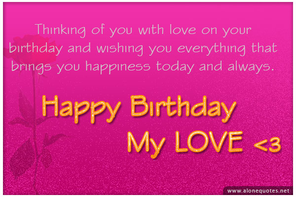 Birthday Quotes For Him Quotesgram Happy Birthday Wishes Quotes For Lover