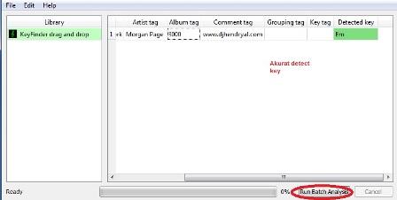 Detect key lagu dengan software key finder