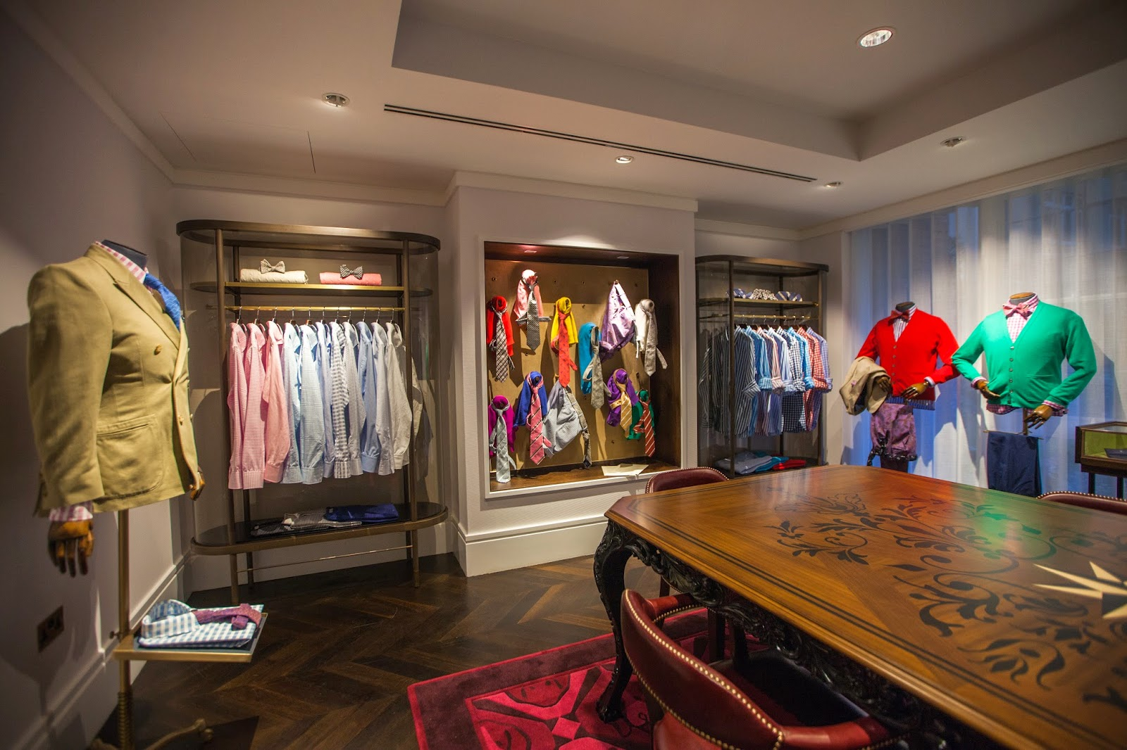 Turnbull & Asser, LCM, London Collections, flagship store, Spring 2015, Suits and Shirts,