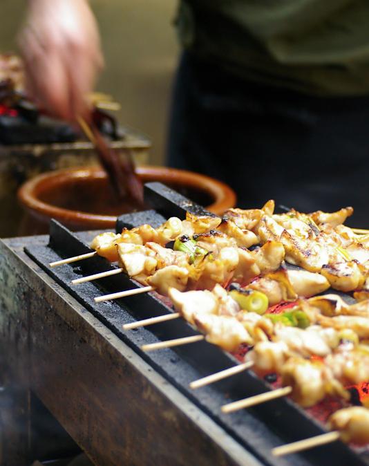 Scrumpdillyicious: Japanese Yakitori: Grilled Chicken & Scallion