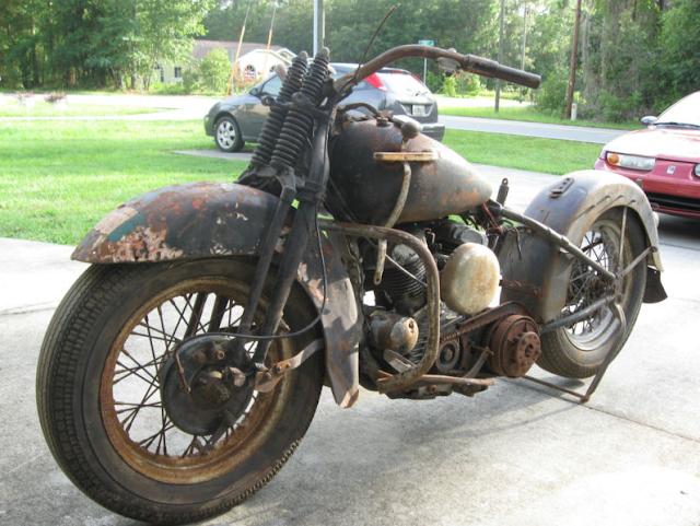 1942 Civillianized Harley Davidson WLA, True Original Barn Find ...