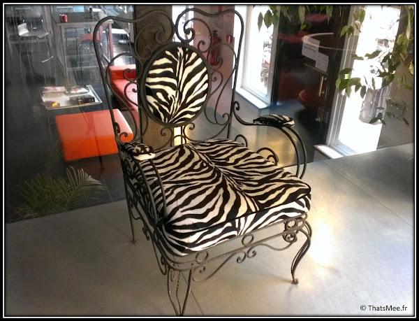 Zebra Square : la chaise Mikros