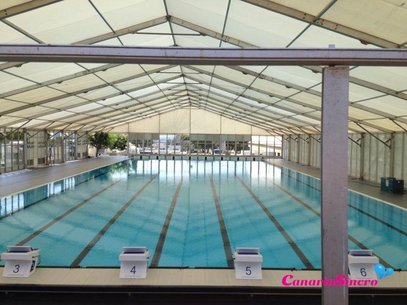 Canarias sincro espa a estrena la piscina del mundial for Piscina 86 mundial madrid