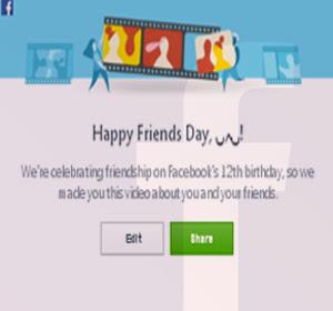 Facebook Rilis Fitur Friends Day Video