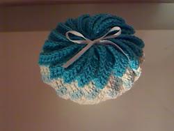 flor em crochet com cheiro