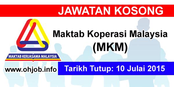 Jawatan Kerja Kosong Maktab Koperasi Malaysia (MKM) logo www.ohjob.info julai 2015