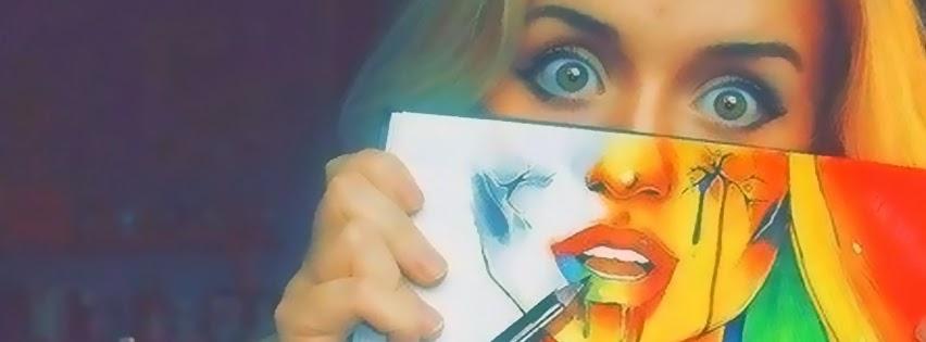 Desenhos criativos dão nova visão ao rosto