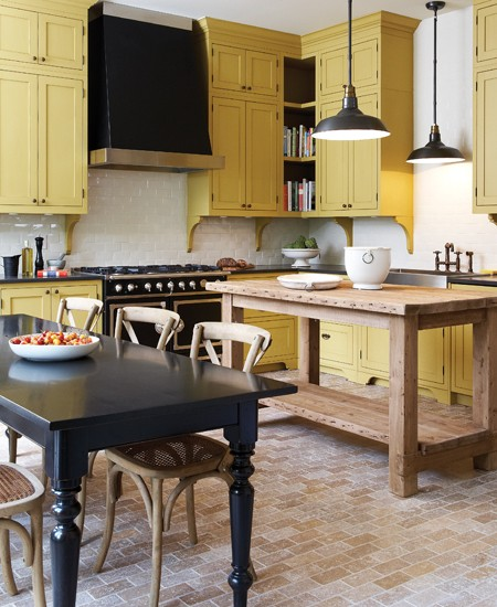 Yellow Kitchen With White Cabinets: Roses And Rust: September 2012