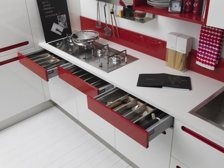 cmo darle color a la cocina con alegres tiradores - Cocinas Rojas Y Blancas