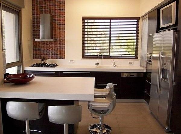 10 estupendas fotos de cocinas peque as colores en casa - Cocina minimalista pequena ...