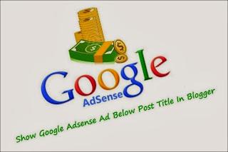 Adsense Ads Below Post Title