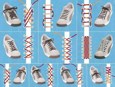 Diferentes maneras de colocar los cordones a tu calzado