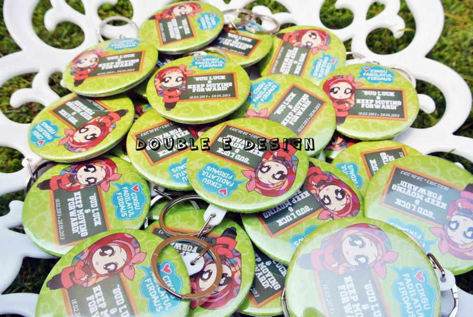 Keychin Badge Murah~~ ~ Double ED