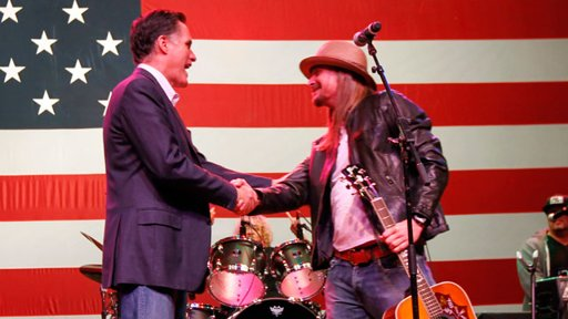 Kid Rock and Mitt Romney