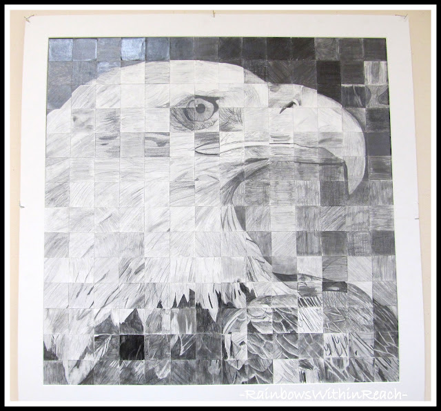 photo of: Bald Eagle Cooperative Art Project in Elementary School