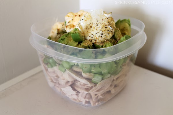 Healthy Avocado Chicken Salad || Sprinkles and Style