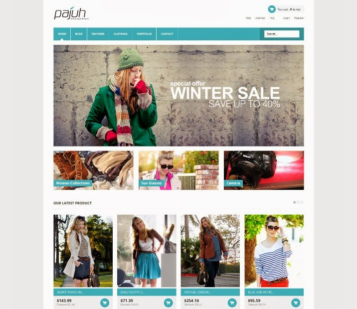 Pajuh - Clean and Responsive Virtuemart Template