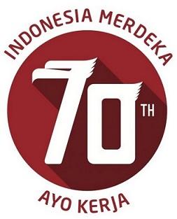 Logo HUT RI Ke-70 Ayo Kerja
