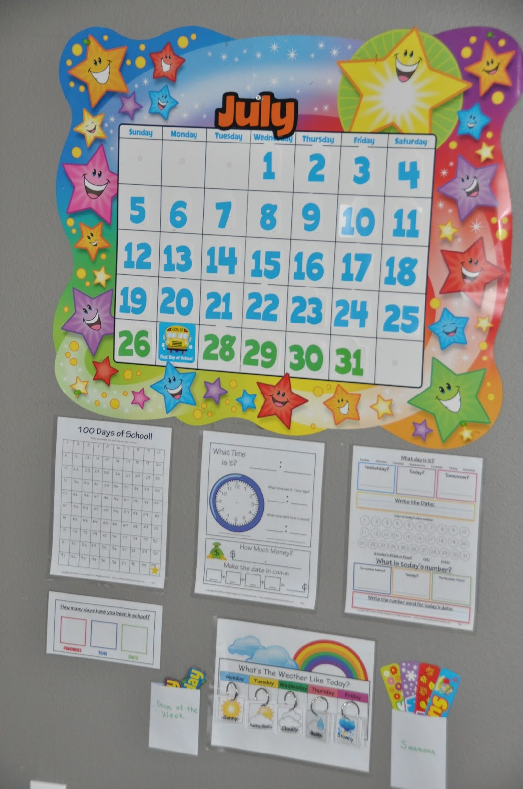 Kindergarten Year Calendar : Right where we are kindergarten calendar time
