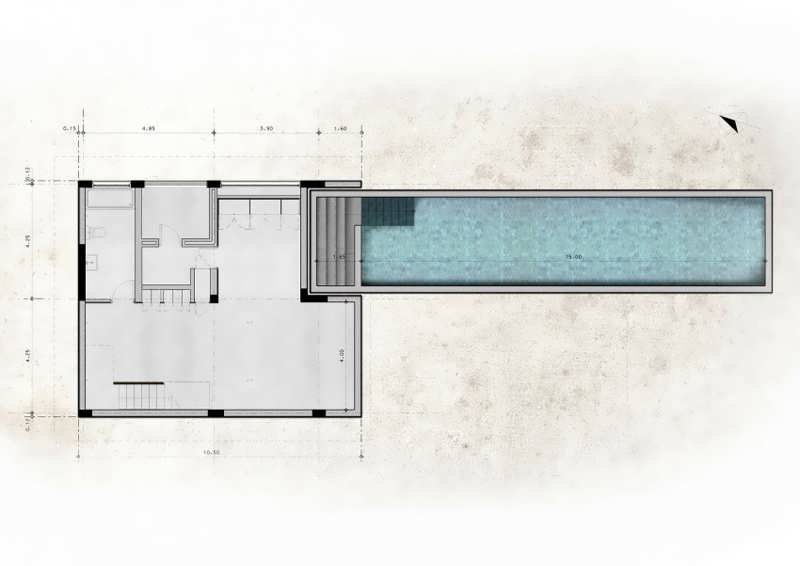 Modern t shaped house design represents a minimalist expression of structure space and context - T shaped house plans ...