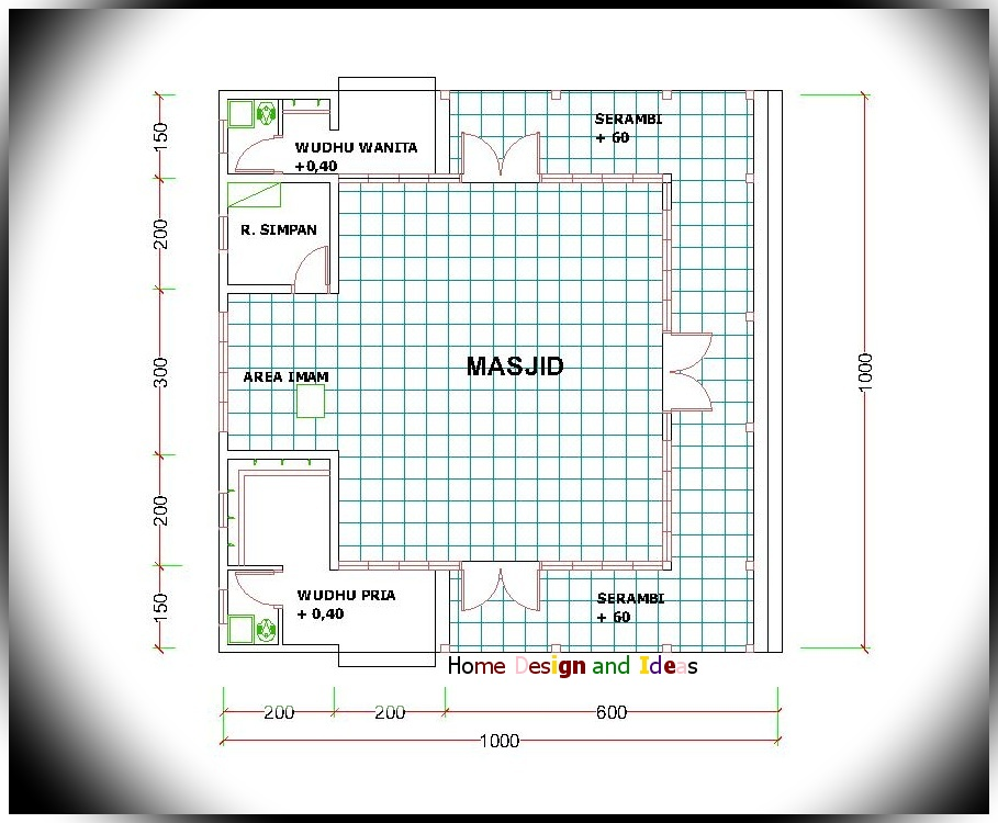 Denah Masjid 10 X 10 M Home Design And Ideas