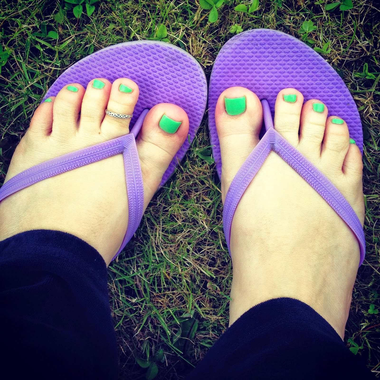 Neon Green Pedicure