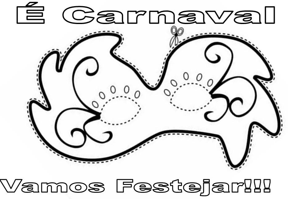 De Mascara De Carnaval Para Imprimir E Colorir Desenho De Mascara De