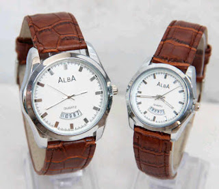model jam tangan alba kw couple sl25 leather murah