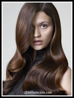 Color de cabello en tono marrón café