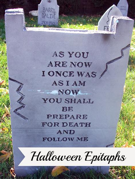 Funny Halloween Tombstone Epitaph Sayings