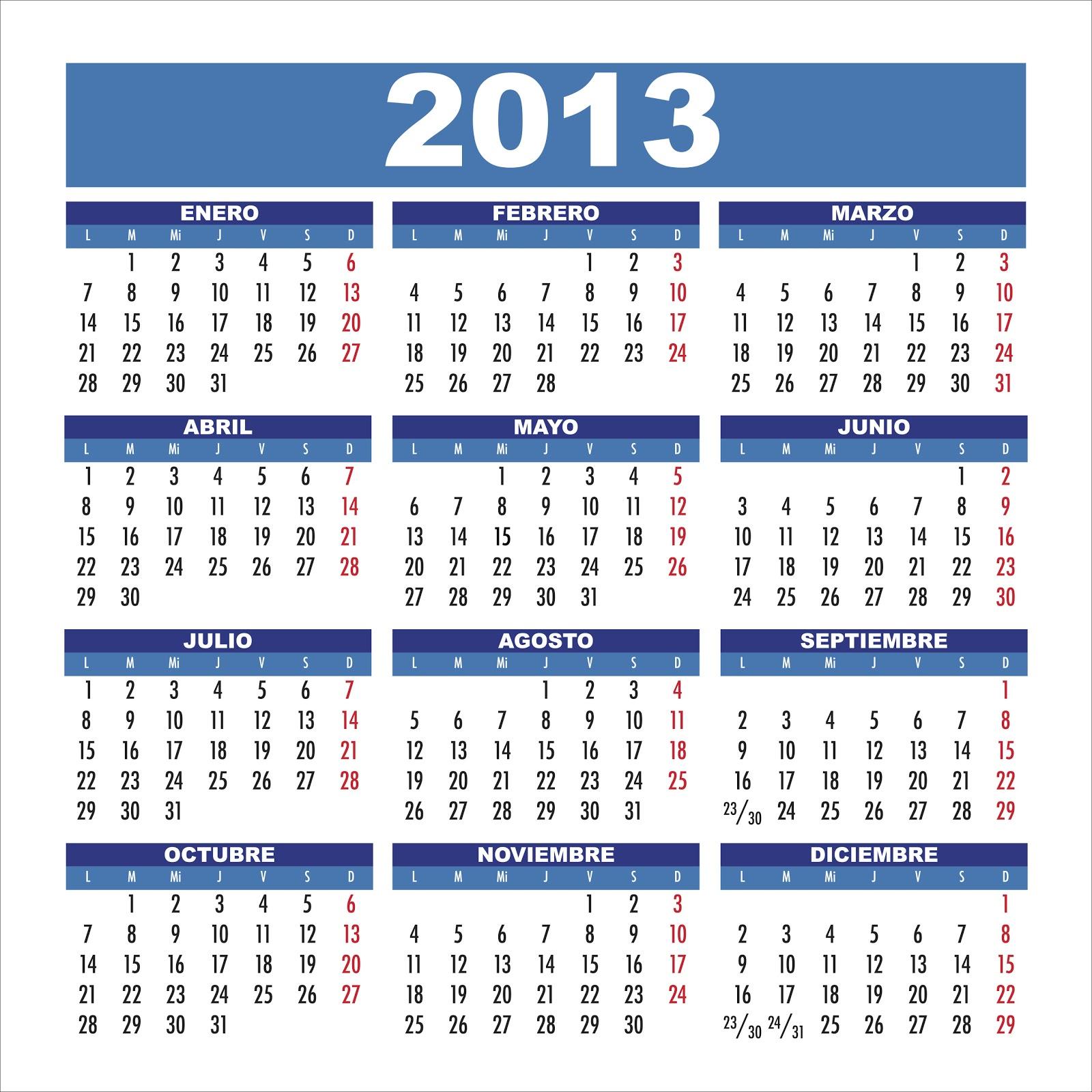 Calendario 2013 Imágenes
