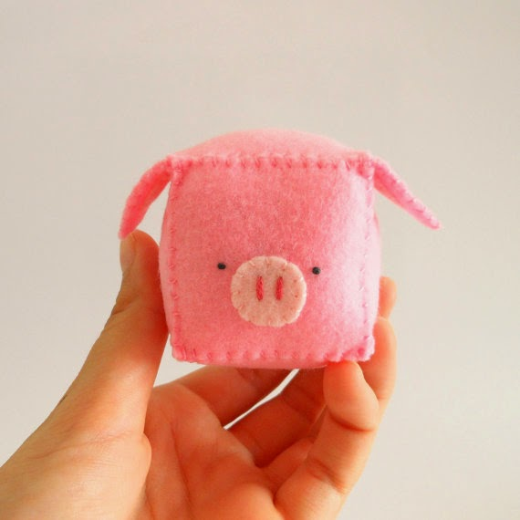 DIY pattern Pig Pincushion, pdf with pattern and tutorial step by step baby shower favors