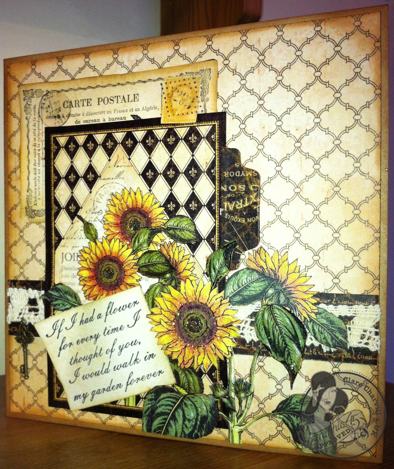 Gallery French Country Sunflower Card
