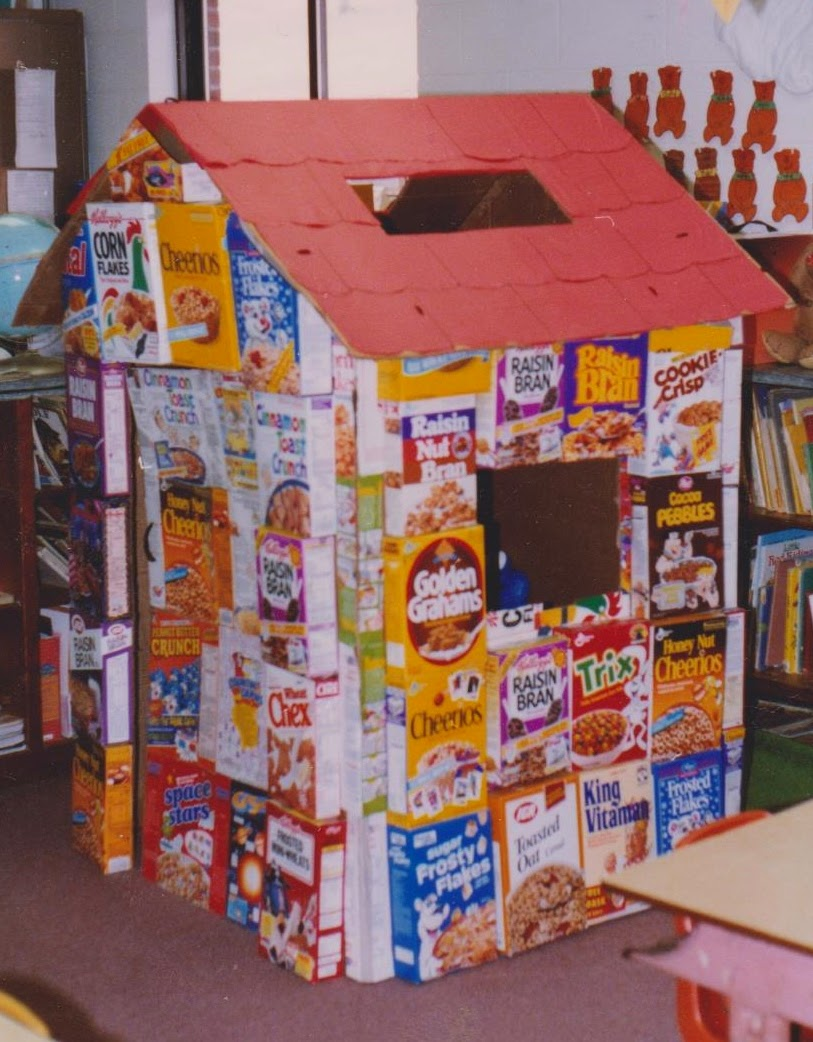 Ms nancy 39 s nook cereal box house learning center for Cereal box project for school