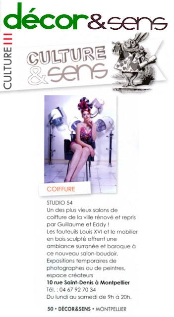Article concernant l'ouverture du Studio 54 coiffure, des soirées à thème organisées, et des offres proposées.