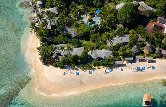 Private island resort for sale in the Grenadines - aerial view