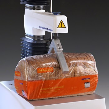 Loaf freshness test using the TA.XTplus Texture Analyser