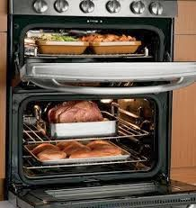 slide in gas range with double ovens
