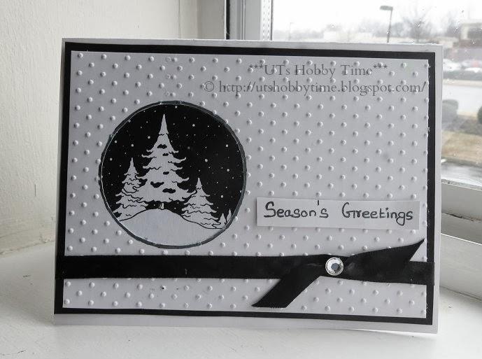 Handmade Winter greeting Card