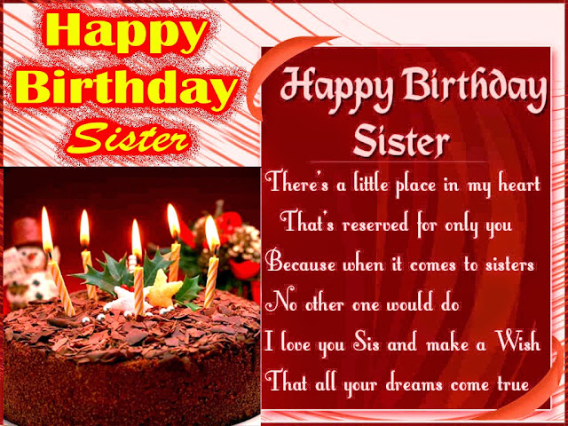 Happy Birthday Sister Wishes 2016