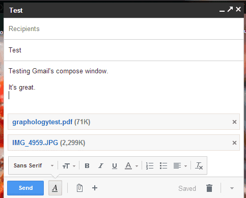 Attach Images in the New Gmail Compose Interface