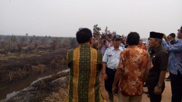Titik Api Di Kabupaten OKI Meningkat, Iskandar,SE Turun Langsung Ke Lapangan